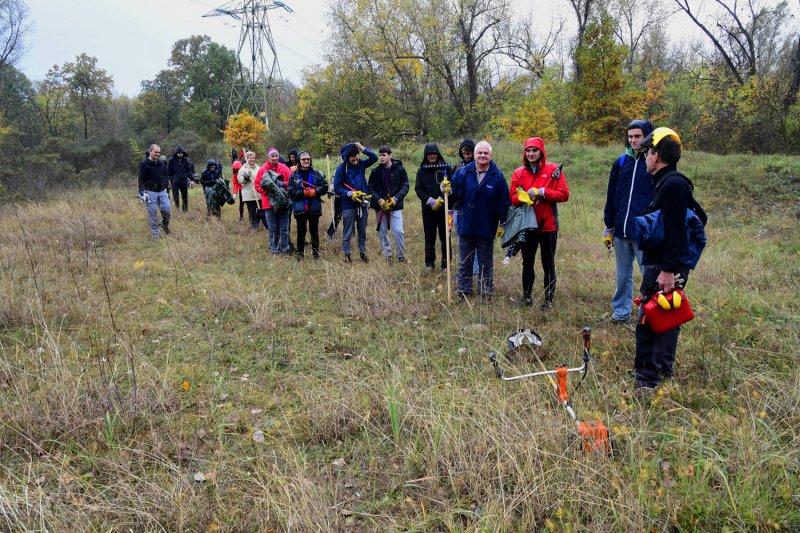 A munkák megkezdése előtt a szervezők bemutatták az önkénteseknek a védett területet (Fotó: Bajor Zoltán)