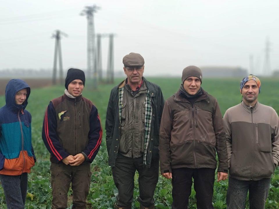 A KFO felmérést végző csapat, a képet a csapat egyik tagja, Környei Artúr készítette