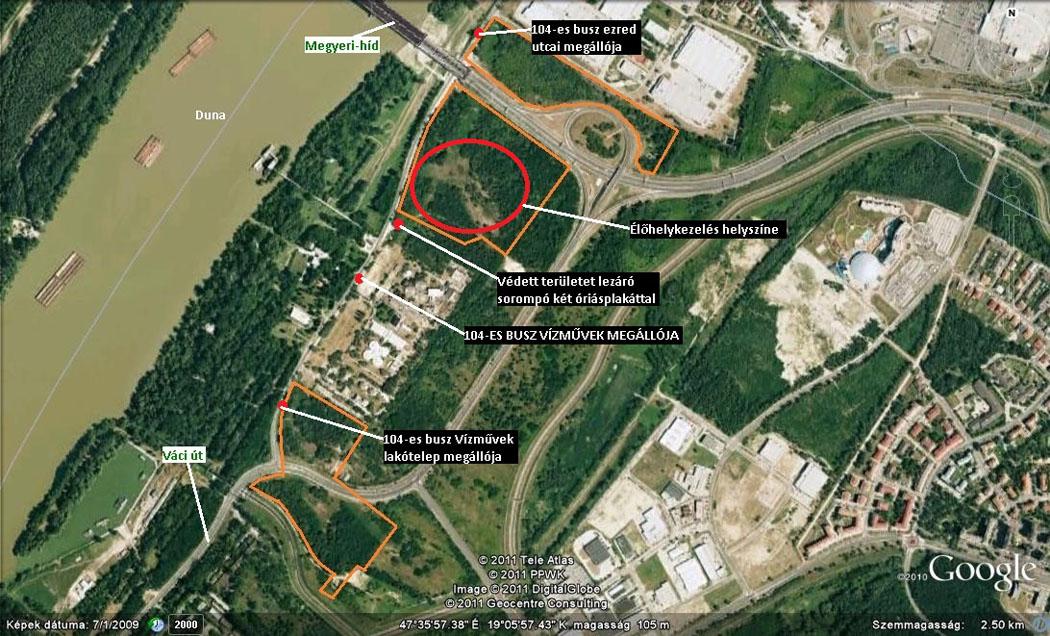 A munka helyszíne (Forrás: Google Maps).