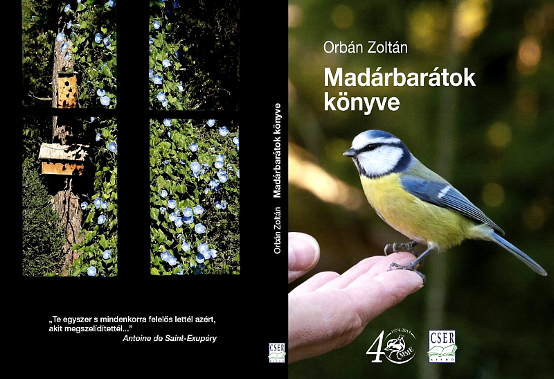 Orbán Zoltán - Madárbarátok könyve (Cser Kiadó, 2013) külső borító.