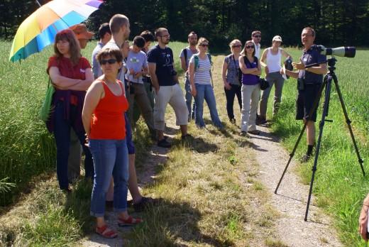 A tanulmányút résztvevői Martin Weggler (Orniplan) vezetésével (Fotó: Nagy Dénes)