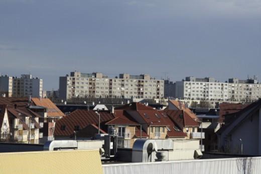 Panelházak Szegeden (Fotó: Orbán Zoltán).