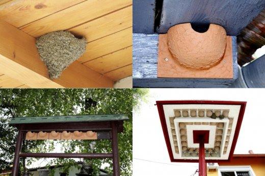 A tavasz közeledtével még van idő kihelyezni az otthon elkészített vagy megvásárolt műfészkeket, megtervezni és engedélyeztetni a fecskebarát falfelújítást, felszerelni a fecskepelenkákat (Fotók: Orbán Zoltán)
