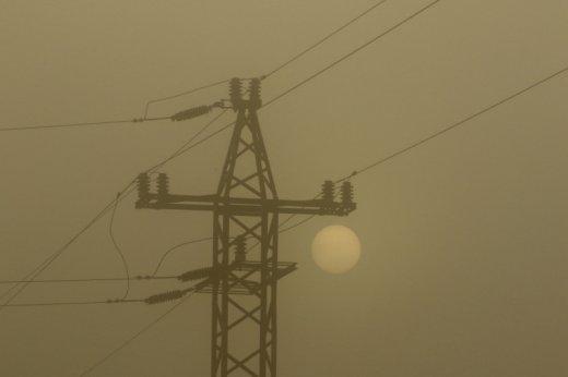 Elektromos szabadvezeték oszlopa (fotó: Orbán Zoltán)