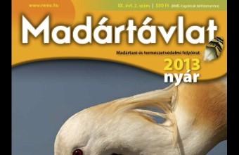 Az MME Madártávlat magazin 2013. évi nyári számának címlapja.