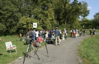 Európai Madármegfigyelő Napok a fővárosi Naplás-tó partján (Fotó: Orbán Zoltán).