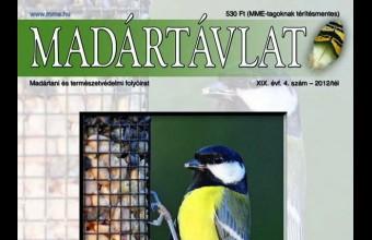 Az MME Madártávlat magazin 2012. évi téli számának címlapja.