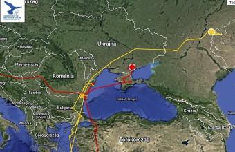 """""""Ubul"""" és """"Karma"""" a költőterületre érkezés után, 2015. július 7-én (Forrás: satellitetracking.eu)."""