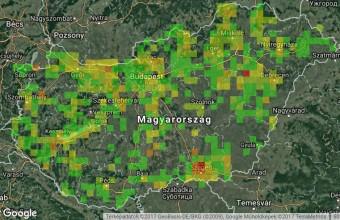 2017. őszének (szeptember - november) adatai a MAP Áttekintő térképén (2017.12.01.)