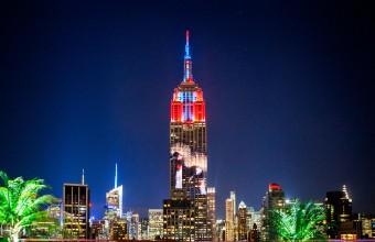 Koronás daruk az Empire State Buildingen (Fotó: Camilla Cerea/Audubon).