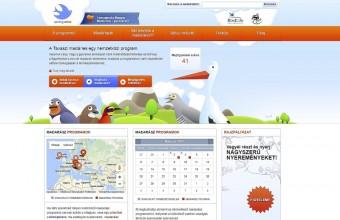 A Tavaszi madárles (SpringAlive) program magyar nyelvű honlapfelülete (springalive.net)