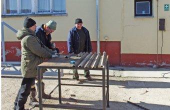 Ságvári gólyafészek felújítása 2019 februárjában