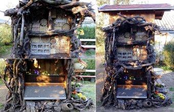 A szekrényes méhecskehotel a kert dísze is lehet (Fotók: Orbán Zoltán)