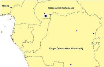 A Sumonyban jelölt füsti fecskék afrikai megkerülési helyei
