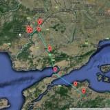 Picur a Dardanellákon átkelve ért vissza Európába (forrás: http://satellitetracking.eu)