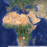 """""""Csele"""" (sárga) Zambiában, """"Pétör"""" (piros) Angolában"""
