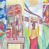 A 10 éves Nagy Szófia alkotása Magyarországról